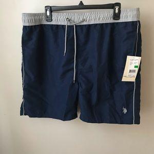 U.S Mens Stripe Swim Short Polo Assn